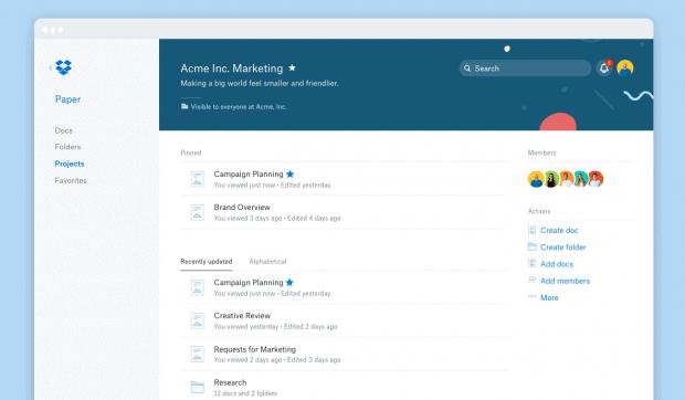 Dropbox enhances collaboration tool Paper including live previews