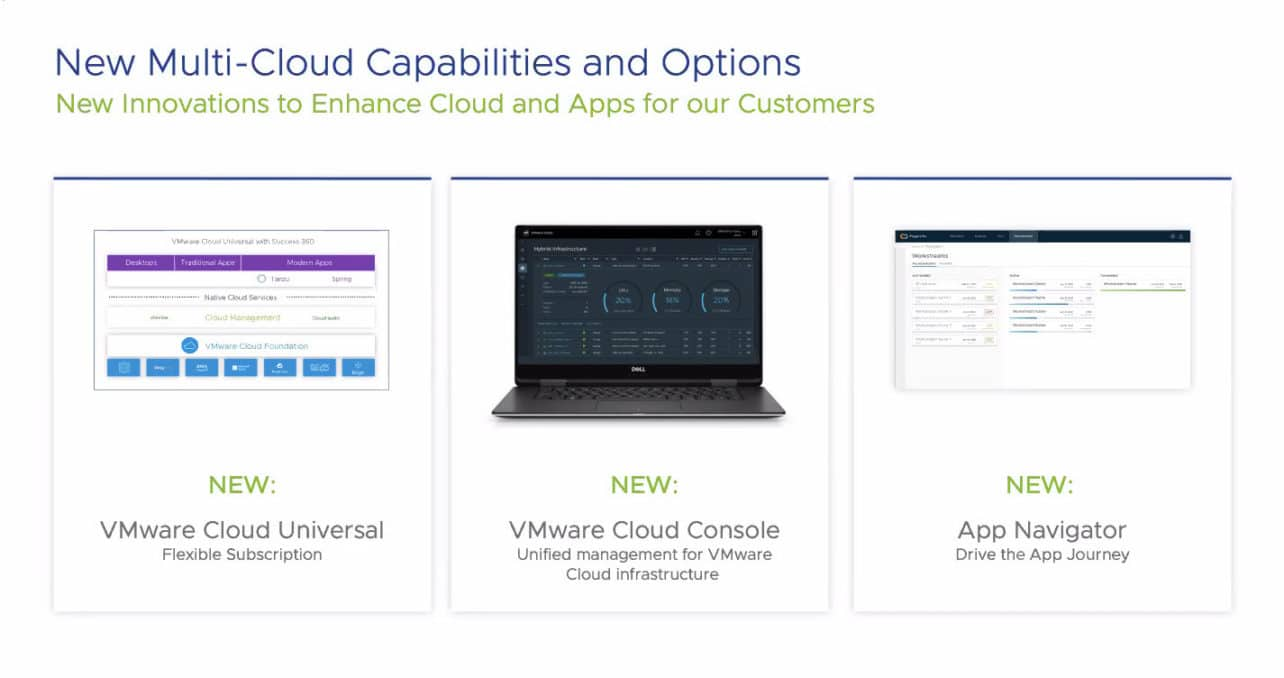 VMware introduces Cloud Console, Cloud Universal subscription and App Navigator