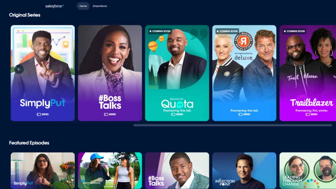 Salesforce+ wants to become the Netflix of the business user